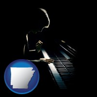 arkansas a concert pianist playing a piano