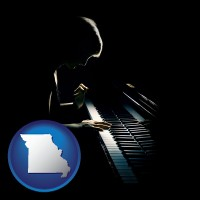 missouri a concert pianist playing a piano