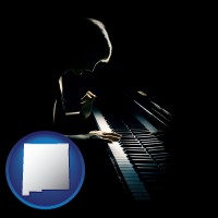 new-mexico a concert pianist playing a piano