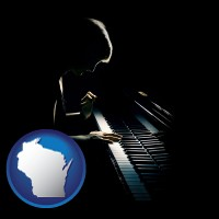 wisconsin a concert pianist playing a piano